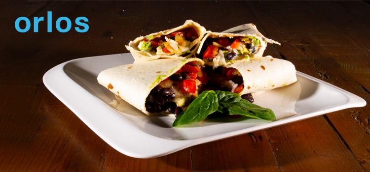 Quick Veggie and Rice Burrito - with Orlos