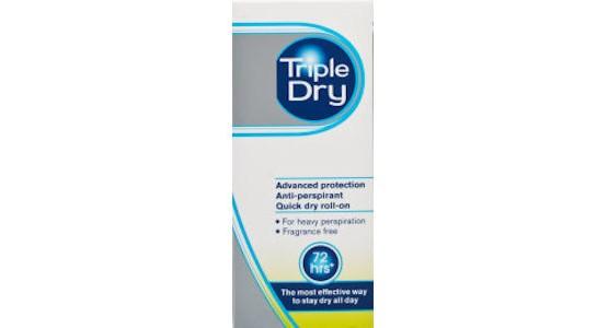 Dry antitranspirant test triple Triple A