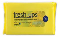 Fresh Ups Moist Tissues Citrus Lemon Pack of 20