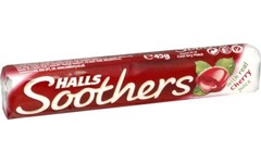 Halls Soothers Cherry Flavour Pack of 10