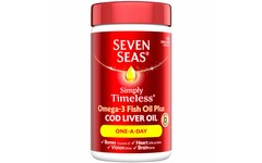 Seven Seas Simply Timeless Omega 3 Fish Oil + CLO Pack of 120