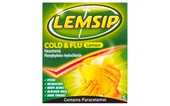 Lemsip Cold & Flu Lemon Pack of 5