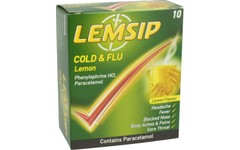 Lemsip Cold & Flu Lemon Pack of 10