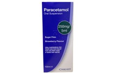 Paracetamol 250mg/5ml Sugar Free Oral Suspension 100ml