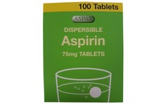 Aspirin Dispersible 75mg Tablets Pack of 100