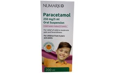 Paracetamol 250mg/5ml Sugar Free Oral Suspension 200ml