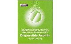 Aspirin Dispersible 300mg Tablets Pack of 32