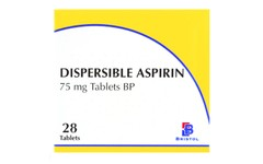 Aspirin Dispersible 75mg Tablets Pack of 28