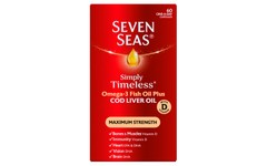 Seven Seas Simply Timeless Marine Oil with CLO Max Strength Pack of 60