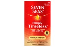 Seven Seas Simply Timeless Omega-3 Plus CLO Pack of 30