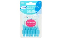 Tepe Interdental Brushes Blue 0.6mm Pack of 6