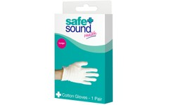 Safe & Sound Cotton Gloves Large 1 Pair