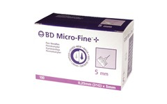 BD MicroFine Insulin Pen Needle 31 Gauge x 5mm Pack of 100