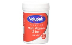 Valupak Multivitamin & Iron Tablets Pack of 50