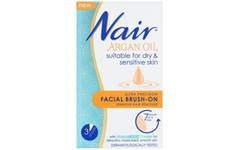 Nair Facial Brush On Hair Remover with Argan Oil 50ml