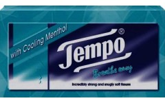 Tempo Tissue Single Box Menthol Pack of 80