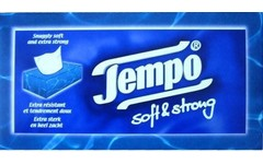 Tempo Tissue Single Box Soft & Strong Pack of 80