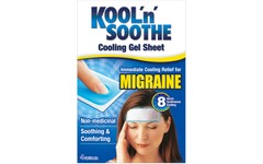 Kool 'n' Soothe Migraine Cooling Strips Pack of 4