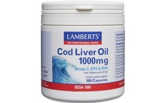 Lamberts Cod Liver Oil Capsules 1000mg Pack of 180