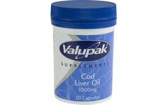 Valupak Cod Liver Oil Capsules 1000mg Pack of 30