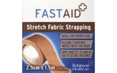 Fastaid Stretch Fabric Strapping 2.5cm x 1.5m