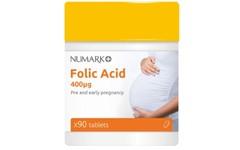 Numark Folic Acid 400ug Tablets Pack of 90