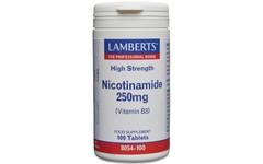 Lamberts Nicotinamide (Vitamin B3) Tablets 250mg Pack of 100