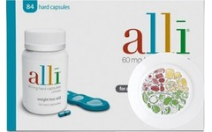 Alli Capsules 60mg (3 x Pack of 84) & The Health Portion Plate