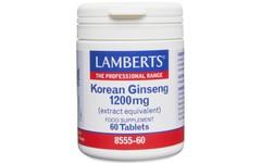 Lamberts Korean Ginseng Tablets 1200mg Pack of 60