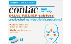 Contac Non-drowsy Dual Relief Capsules Pack of 18