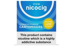 Nicocig Refills Low Strength 6mg Tobacco Flavour Pack of 3