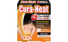 Cura-Heat Acute Back Pain Max Size Direct to Skin Patches Pack of 2