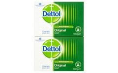 Dettol Original Anti-Bacterial 100g Twin Pack