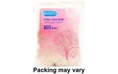 Cotton Wool Balls White Pack of 100