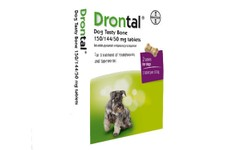 Drontal Dog Tasty Bone Shaped Tablets Pack of 2