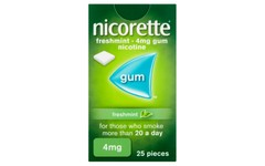 Nicorette 4mg Chewing Gum Freshmint Pack of 25