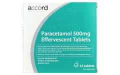 Paracetamol Effervescent Tablets 500mg Pack of 24