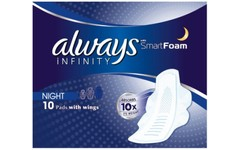 Always Infinity Night Pack of 10 Pads