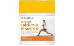 Numark Chewable Calcium & Vitamin D Tablets Pack of 30
