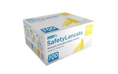 GlucoRx Safety Lancets 26G 1.8mm Pack of 100