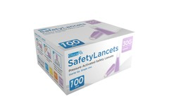 GlucoRx Safety Lancets 30G 1.6mm Pack of 100
