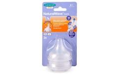 Lansinoh NaturalWave Slow Flow Teats Pack of 2