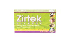 Zirtek Allergy Tablets Pack of 21