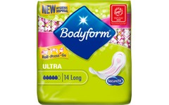 Bodyform Sanitary Towels Without Wings Ultra Long Pack of 14