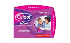 Calpol Infant Suspension Strawberry Flavour Sachets 5ml Pack of 12