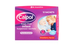 Calpol Sugar Free Infant Suspension Strawberry Sachets 5ml Pack of 12