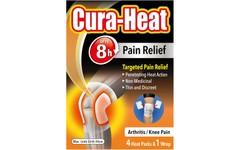 Cura-Heat Arthritis Knee Pain Relief Pack of 4