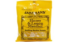 Jakemans Cough Sweets Honey & Lemon Menthol 100g