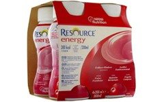 Resource Energy Strawberry-Raspberry 200ml Pack of 4