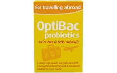 OptiBac Probiotics for Travelling Abroad Capsules Pack of 20